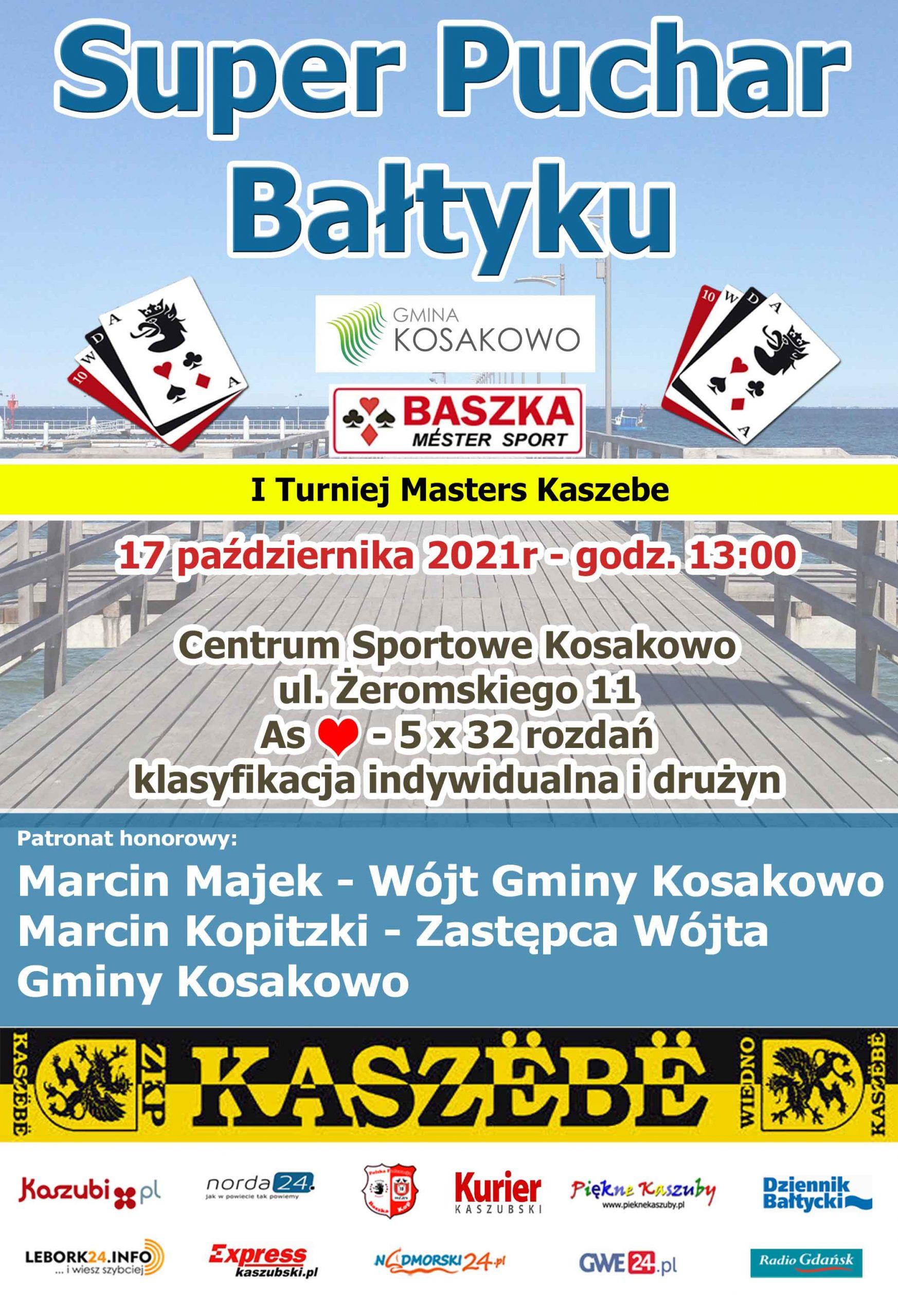 Rusza cykl turniejów Masters Kaszebe czyli Czerwona Baśka